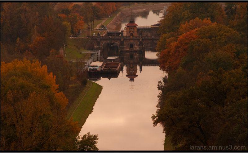calm water - autumn light