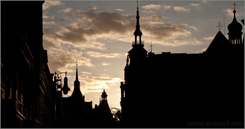 The Prague Fragments VII - skyline silhouettes