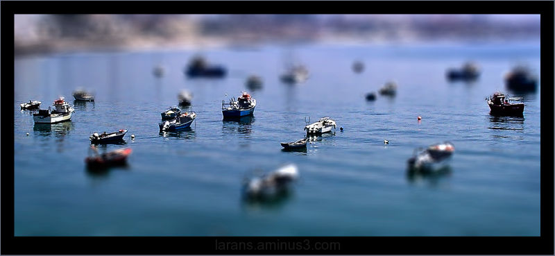 ...miniature boats...