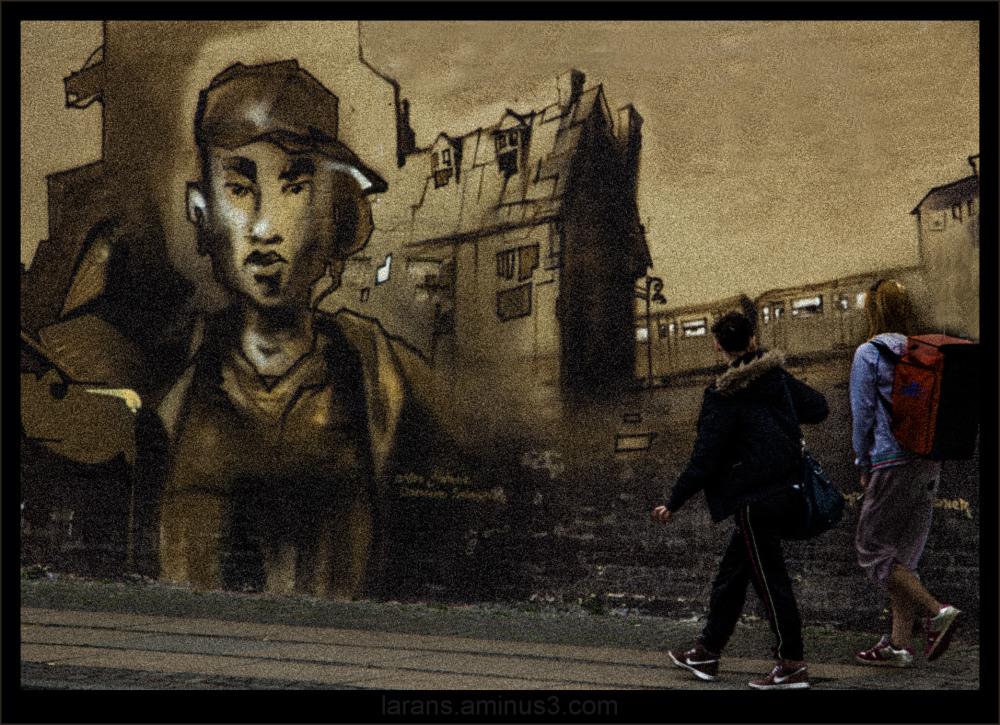 ...walking into a graffiti world...