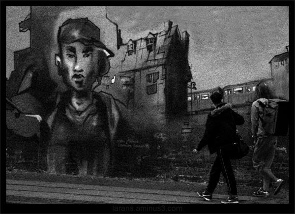 ...walking into the graffiti world...