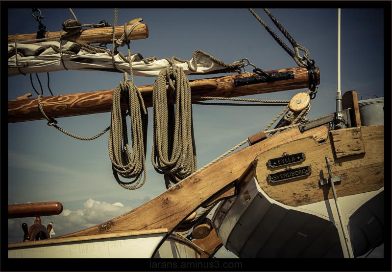 ..on the old schooner...