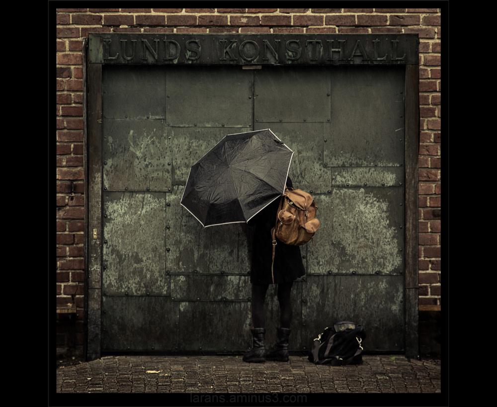 ...in the rain...