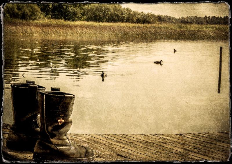 ...at the lake...