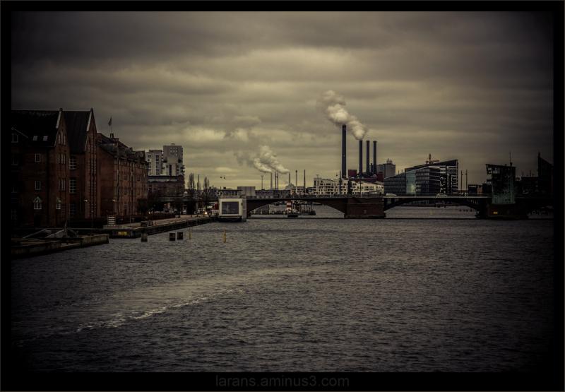 ...modern cityscape...