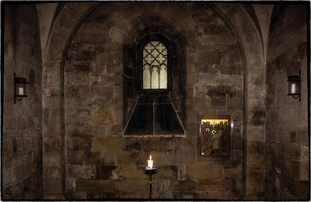 ...the sacristy...