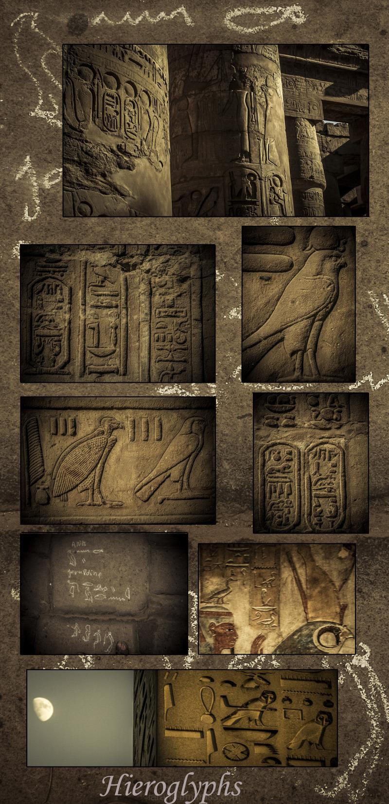 ...hieroglyphs...