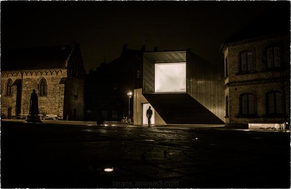 ...lighted window...
