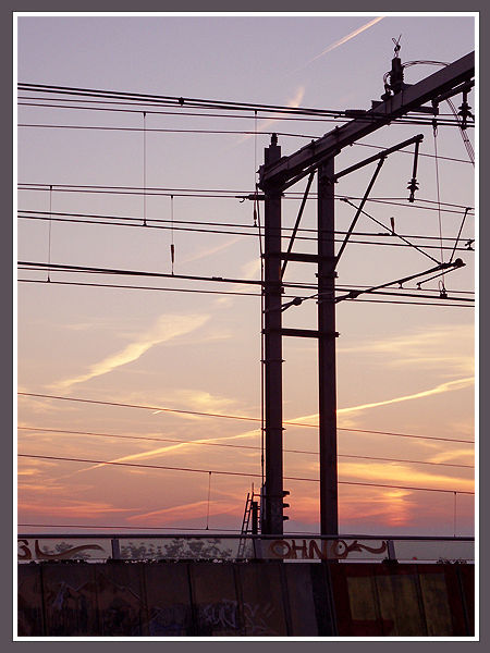 Sunset And The Railways