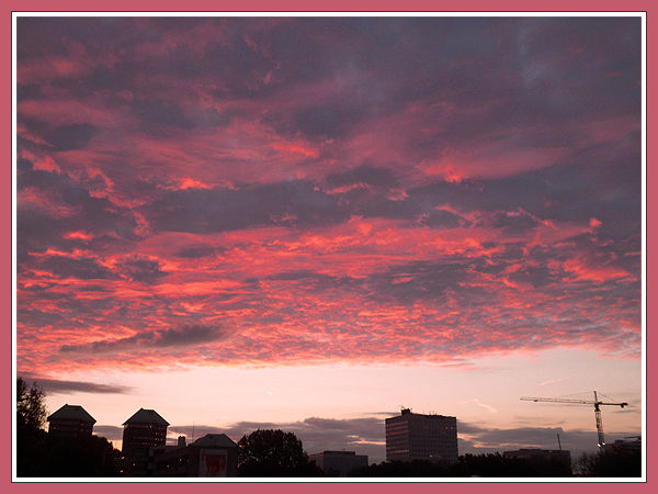 Fiery Skies Over Amsterdam
