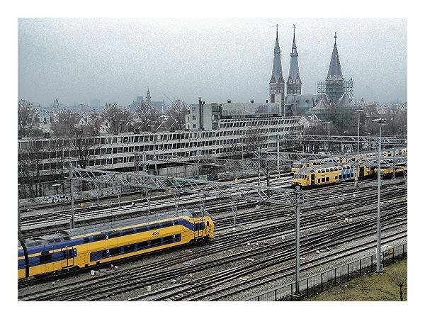 Railways Near Amsterdam Central Station