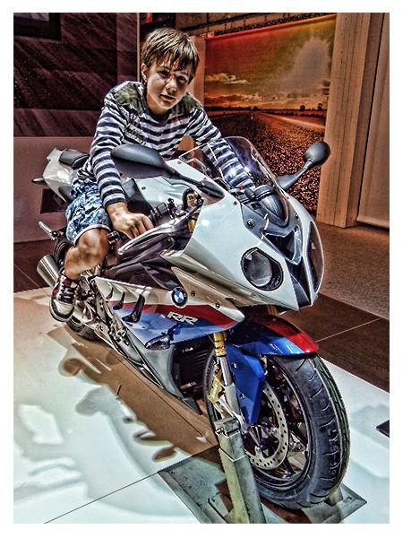 Hotshot... My Son... On One Of Them Motors... ;-)