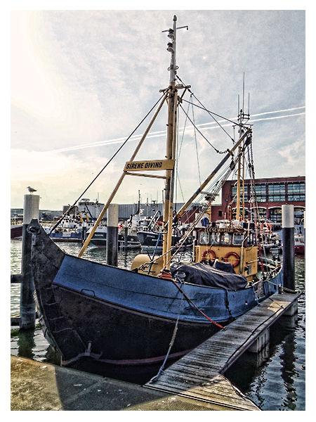 Boat At Scheveningen Harbour