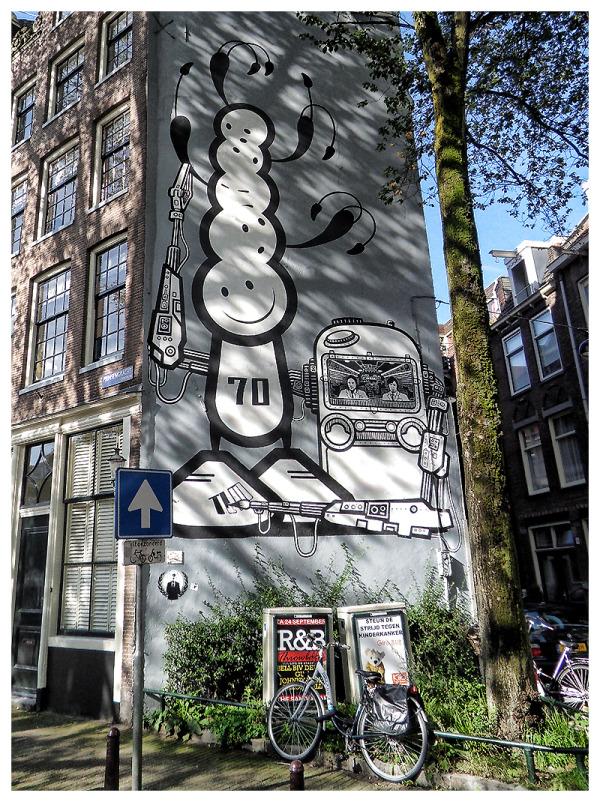 Housepainting, Prinsengracht - Amsterdam