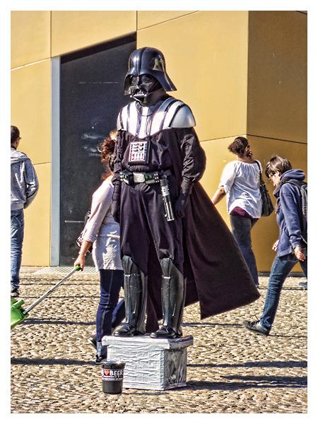 Darth Vader Begging For Money