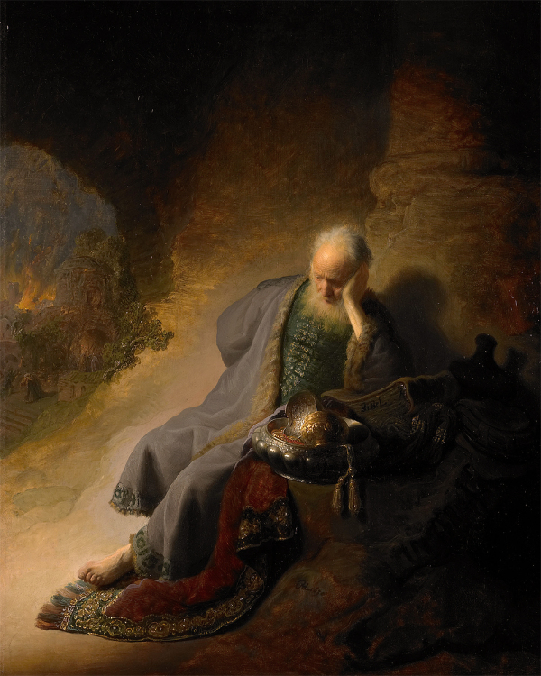 """Rembrandt - """"Jeremiah and the fall of Jerusalem"""""""