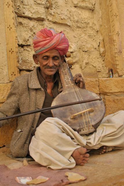 A Musician in Jaisalmer, Rajasthan