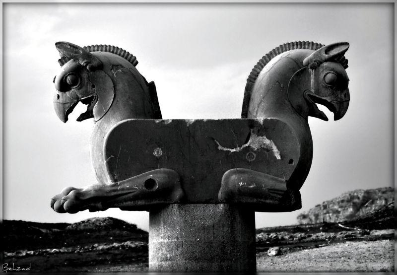 Guardian Persepolis B&W