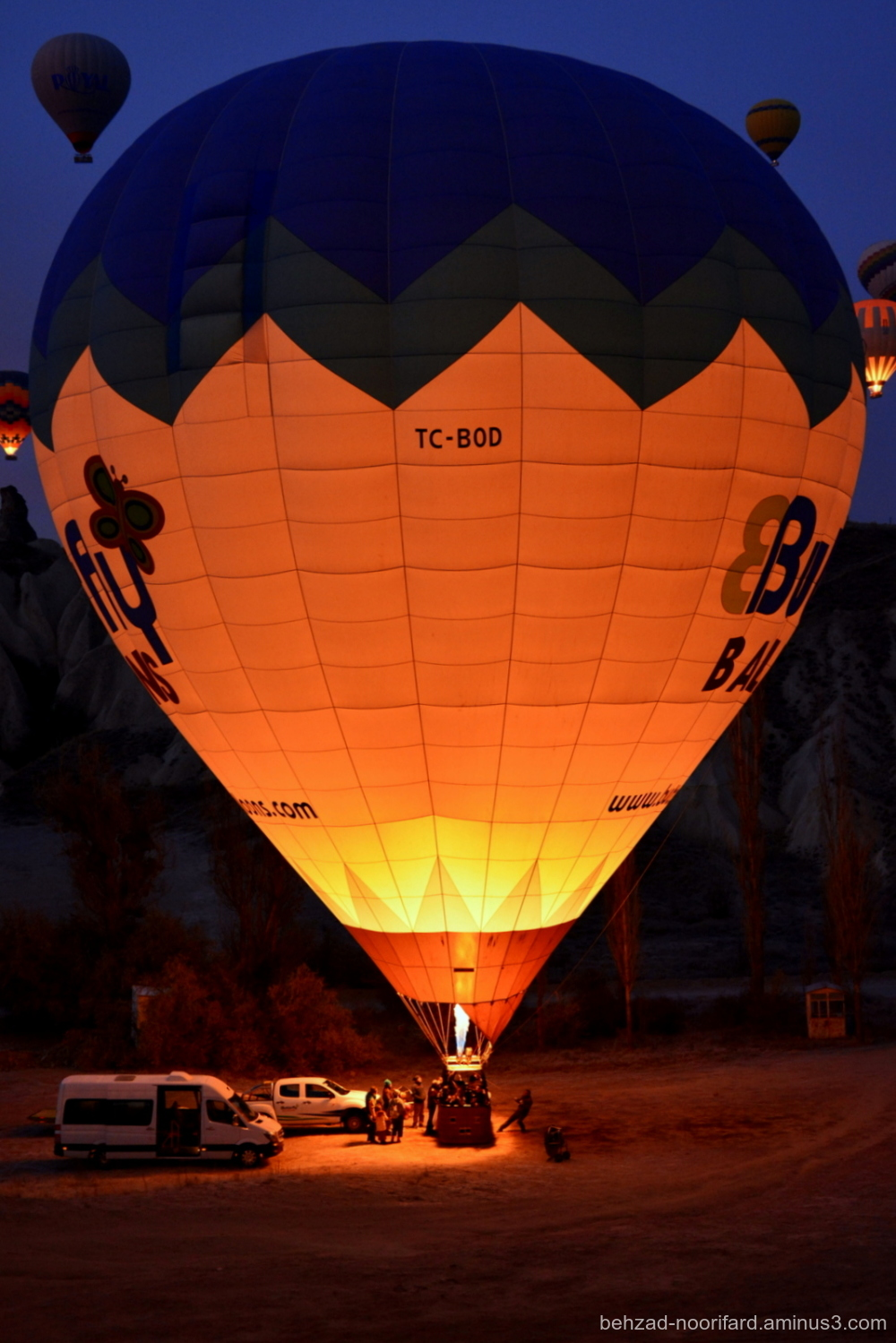 Amazing  fly Cappadocia balloons hot air behzad no