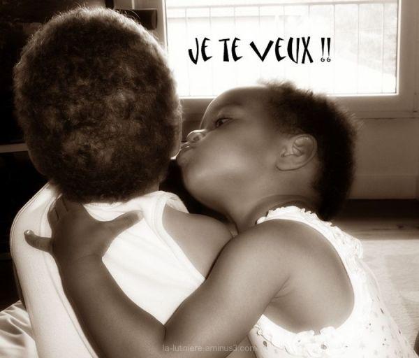 """Le bisou (sépia) - """"Je te veux"""" !"""