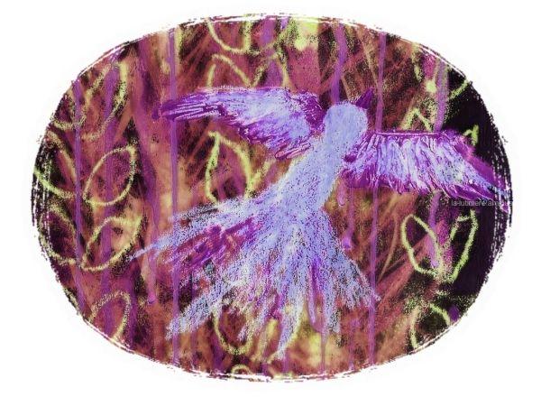 Le phénix (mauve) - cadre 4