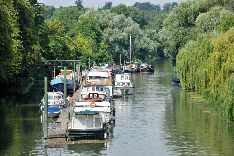 Boats on the Seine, Poissy France