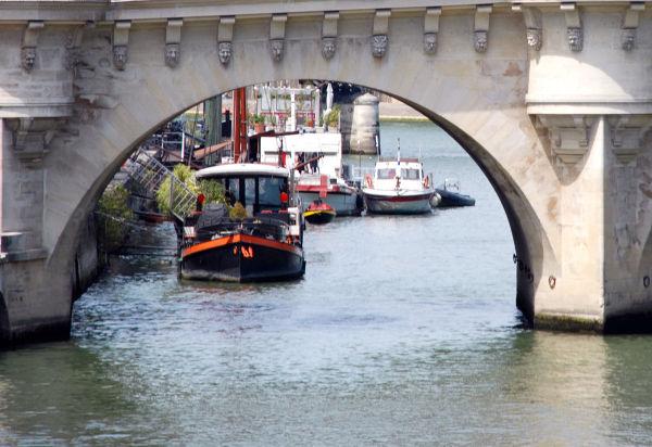 Under the bridge.