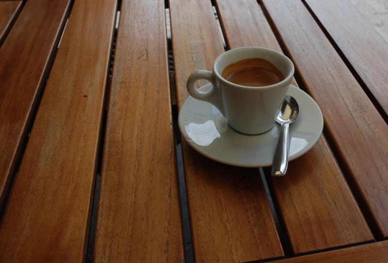 Morning coffee.