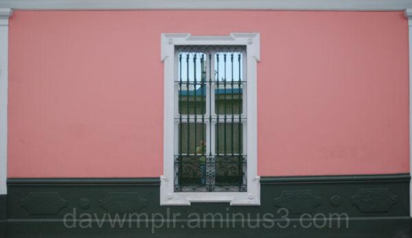 Pink window.