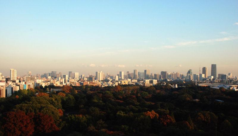 Tokyo skyline.