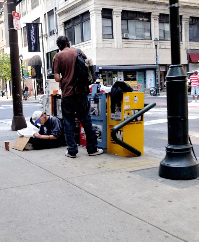 Street corner.