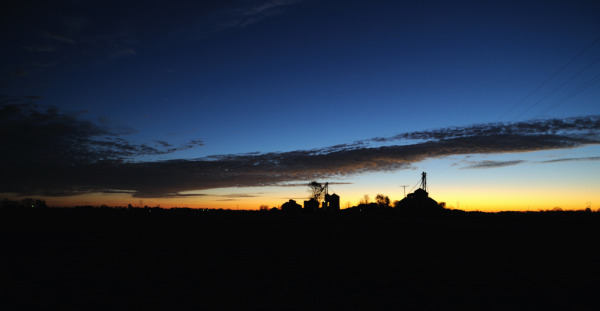 Sunrise on the farm.