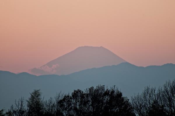 Mt. Fuji at sunset.