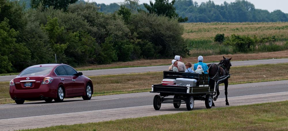 Northern Indiana Amish on US 31.