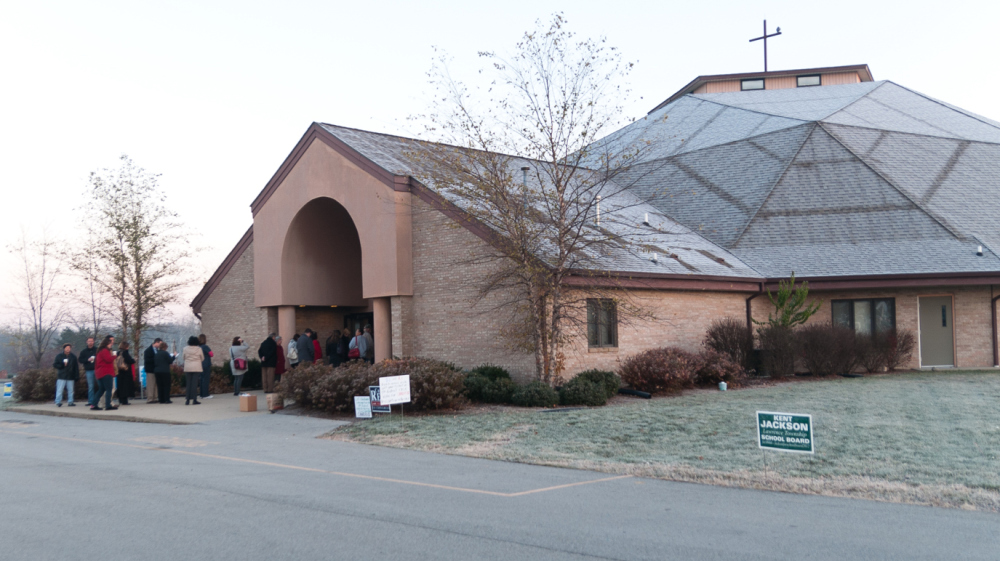 Polling place.