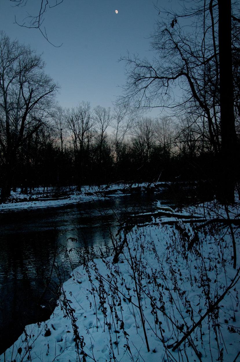 Moon over Fall Creek