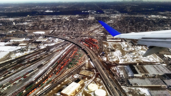Flying out of Chicago