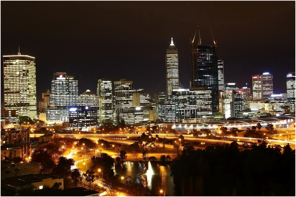Perth City from Kings Park