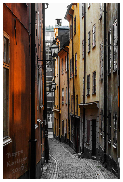 Alley in Old Town Stockholm