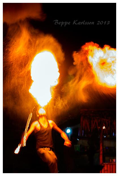 Firebreather on Pulau Perhentian, Malaysia