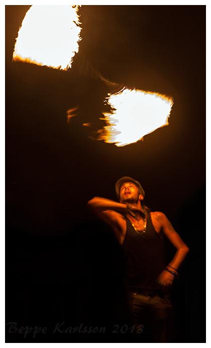 Firedancer on Pulau Perhentian, Malaysia