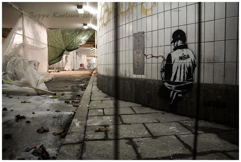 NSA Graffiti Gullmarsplan Stockholm