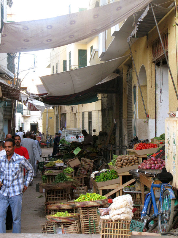 A market for local people in Aswan