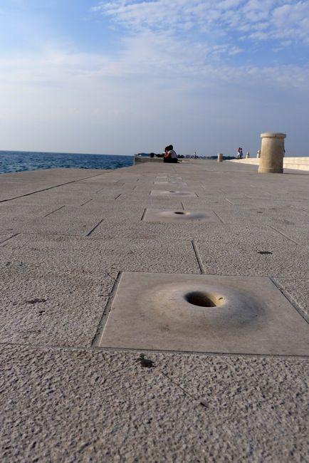 The sea organ in Zadar