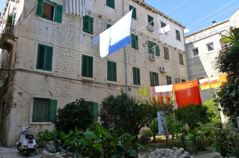 Yard in the old city of Split