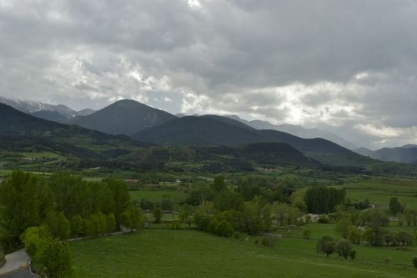 Green landscape in the Pyrenees