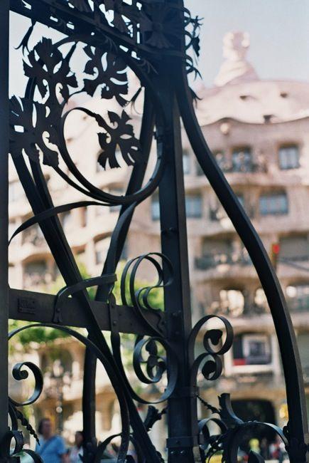 Detall d'un fanal del Passeig de Gràcia