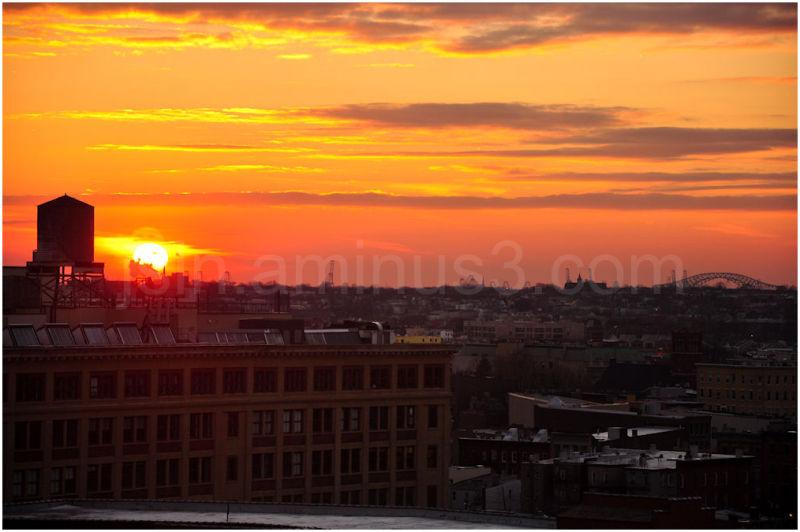 Sunset view of Newark