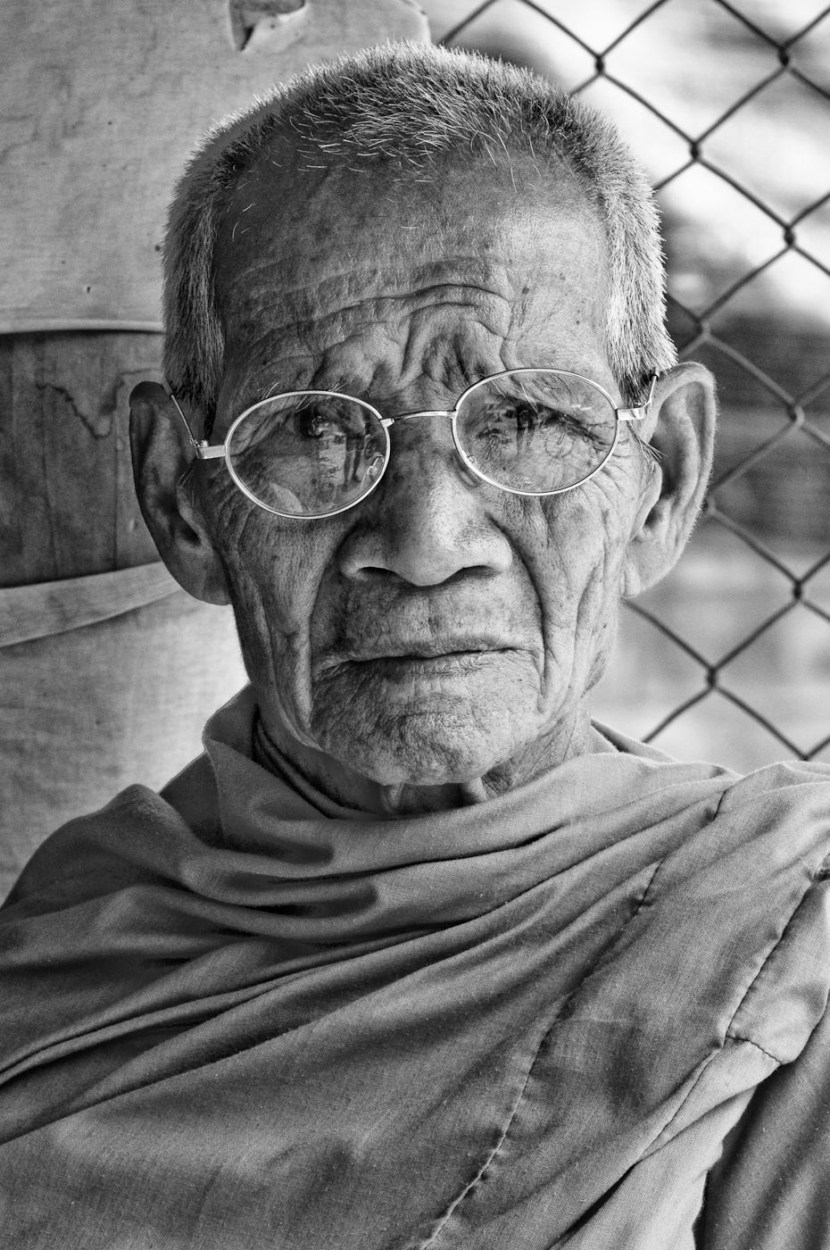 portrait of a monk from thailand