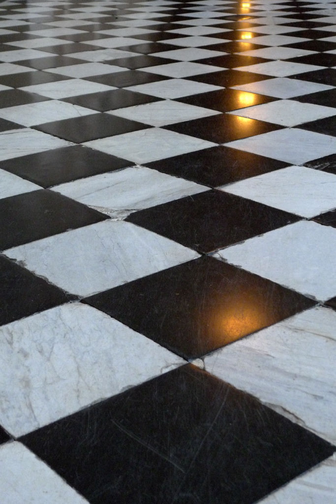 Looking at the floor in Versailles Casle